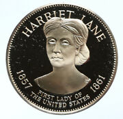 1972 Fm Us Usa White House First Lady Harriet Lane Old Proof Silver Medal I95811