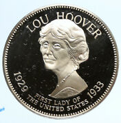 1972 Fm Us Usa White House First Lady Lou Hoover Old Proof Silver Medal I95831