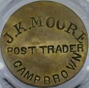 1870's Indian Post Trader C 10-50 Token Of Wyoming Territory In Camp Brown