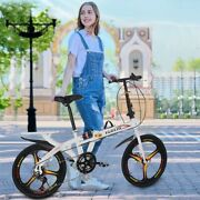20in 7-speed Bmx Bikes City Folding Compact Suspension Bicycle City Commuters