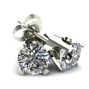 1.50ct Natural Round Brilliant Cut Diamond Stud Earrings In Solid 14k Gold