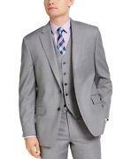 Men's Classic-fit Airsoft Stretch Suit Jackets 40s Light Gray