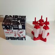 Set Of 6 Star Shaped Ice Pop Molds. New In Box.