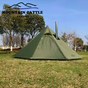 Outdoor Tents Teepee Tent Waterproof Four Season Family Pyramid Tent Camping