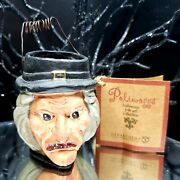 Witch Bucket Pail Mini 2.5 Poliwoggs Halloween Vintage 90s Paper Mache Style