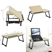 Laptop Tray Light Wood Adjustable Table Home Office Zoom Virtual School Bed