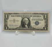 1957a Blue Seal One 1 Dollar Silver Certificate Bill Old Paper Money