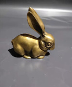 Ornaments. Rabbit Sculpture. Exquisitely Carved Slightly Worn And Perfectly