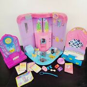 Vintage Just Play Kitty In My Pocket Toy Lot W/ Figures, Accessories, Playsets