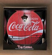 The Cap Catcher Coca-cola Wall Mounted Bottle Opener With Cap Catcher New