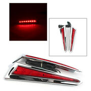 Motorcycle Saber Tooth Red Led Saddlebag Brake Lights Accents For Victory Cross