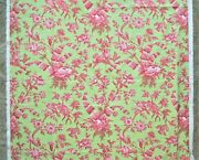 5 Yards Brunschwig And Fils Cotton Designer Fabric W/ Birds And Flowers Shell Toile