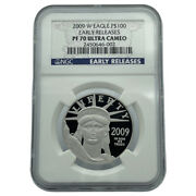 2009-w Platinum Eagle 100 Ngc Pf70 Ultra Cameo Early Releases