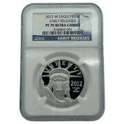 2012-w Platinum Eagle 100 Ngc Pf70 Ultra Cameo Early Releases