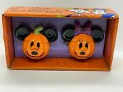 Disney Mickey Mouse And Minnie Mouse Halloween Pumpkin Salt And Pepper Shakers