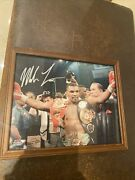 Mike Tyson Autographed Photo In Frame Deuce Signatures Authenticated