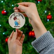 Custom Name I Served During Covd Ceramic Ornaments Personalized Name Gift
