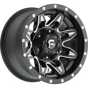 4- 15x8 Black Fuel Lethal 5x4.5 And 5x4.75 -18 Rims Courser Mxt 33 Tires