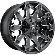 4- 20x9 Black Milled Battle Axe 6x135 And 6x5.5 +1 Rims Ltx A/t 2 Tires