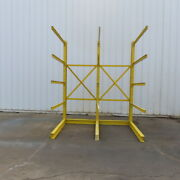 Single Sided Cantilever Wood Steel Material Storage Rack 100-1/4x65-1/2x119-1/2