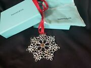 2002 Sterling Silver Snowflake Christmas Ornament Rare Year