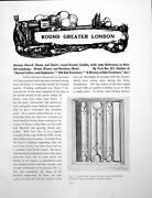 Antique Old Print Ancient Church Chests Greater London Orsettpages 1926