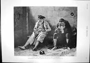 Antique Print Swim Sin Sink Sorrow Jail Crisis Constantinople Wounded 1895 19th
