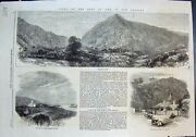 Old Print War New Zealand Waikato Heads Village River Settlers House 1864 19th