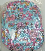 Nwt - Disney Parks - Vera Bradley Mickey's Colorful Garden Campus Backpack
