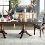 Lasalle Espresso Pedestal Extending Dining Table By Inspire Brown Transitional,