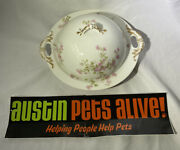 Haviland And Co. Antique Limoges Butter Dish And 6 Six 3 Butter Pat Bowls
