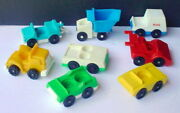 Vintage Fisher Price Little People Vehicles Lot Car Dump Truck Race Mail Zoo