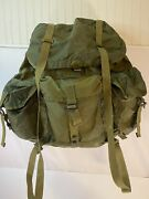 Vintage Us Military Nylon Combat Large Field Alice Pack With Lc-1 Metal Frame