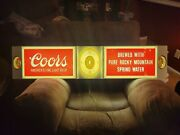 Large Vintage Coors Lighted Beer Sign 5andrsquo Long