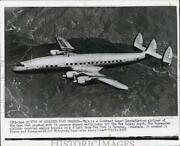 1956 Press Photo Lockheed Super Constellation Airliner Crashed Off New Jersey