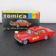 27-1- Tomica Crown Fire Chief Car 1a Black Box Made In Japan