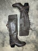 Freebird By Steven Coal Boots Knee High Leather Stone Grey Size 8 350 Zip