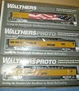 Ho Walthers Proto Union Pacific 3 Car Set Up Heritage Series With U.s. Flag