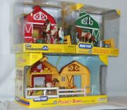 Lot Of 3 Vintage Nib Breyer Stablemate Pocket Barns W/ Horses Vet And Accessories