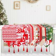 Christmas Table Runner Floral Home Decorations Xmas Holiday Party Placemat