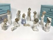 Lladro Mini Nativity Set Holy Family, Angels, Shepherds, Wise Kings - 12 Pieces