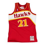 Atlanta Hawks Dominique Wilkins 21 Mitchell And Ness Red 1986-87 Authentic Jersey