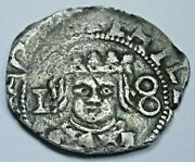 Valencia 1642 Spanish Silver 1 Reales Antique 1600and039s Colonial Cob Pirate Coin