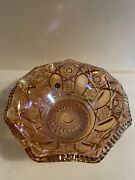 Le Smith Carnival Glass Iridescent Pink Bowl