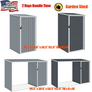 2 Size Outdoor Garden Storage Shed Metal Tool House Backyard Lawn Utility