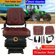 Lawn Mower Seat W/ Armrests And Suspension Universal Adjustable Tractor Seat Us