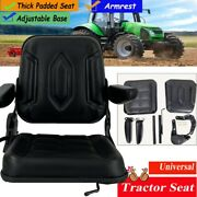 High Back Lawn Mower Garden Tractor Seat Black Universal Compact Forklift Seat