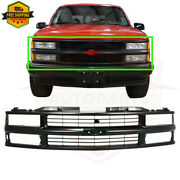 Fits 1994-1999 Chevrolet K1500 C1500 Front Grill Grille Assembly Black Gm1200239