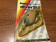 Old Bagleys Balsa Diving B3 Lure Purple On White New In Pkg Usa Made