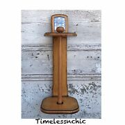Vintage Wooden Paper Towel Holder Hanging Counter Top French Country Cottage